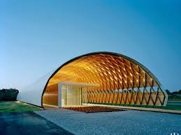 The Hale County animal shelter in greensboro, Alabama, features a curved  roof that employs