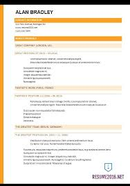 Gallery Of Best Resume Template 2017 Most Recent Resume Format