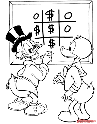 Donald Duck And Uncle Scrooge Coloring Page Disney Drawings