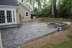 Incredible Concrete Patio Ideas With Fire Pit Concrete Patio Designs