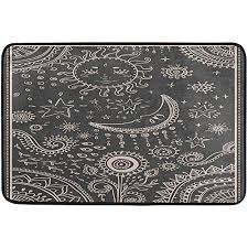 cdvek9ca golden sun moon black doormat entrance mat indoor outdoor door mats floor mat rug mat 23 6x15 7 inch