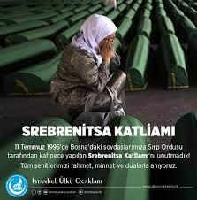 Beyoğlu Ülkü Ocakları - 11 Temmuz 1995'de Bosna'daki soydaşlarımıza Sırp  Ordusu tarafından kahpece yapılan Srebrenitsa Katliamı'nı unutmadık! Tüm  şehitlerimizi rahmet, minnet ve dualarla anıyoruz.   Facebook