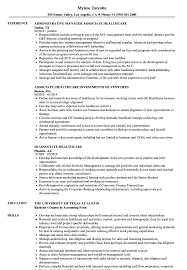 healthcare resume sample associate healthcare resume samples velvet jobs