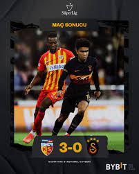 """Galatasaray SK on Twitter: """"Maç sonucu: Yukatel Kayserispor 3 - 0  Galatasaray #KYSvGS @BybitTurkiye… """""""