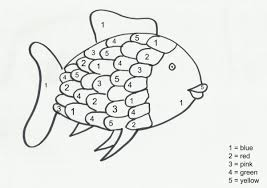 rainbow fish colour by numbers
