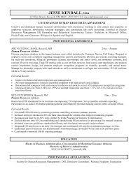 sample resume hr generalist sample resume human resources