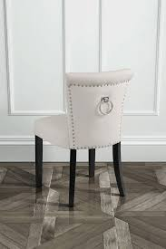 positano dining chair with back ring black legs cream