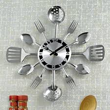 Small Picture Amazoncom Bits and Pieces Contemporary Kitchen Utensil Clock