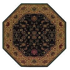 large size of octagon area rugs couristan everest tabriz midnight 8 ft 8 ft octagon area