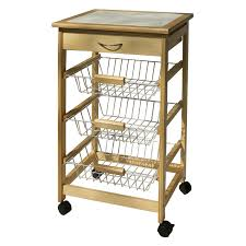 nice exciting kitchen cart with wire baskets organize it all kitchen cart with 3 baskets