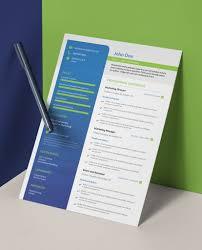 Modern Resume Pdf Green Grass And Blue Skies Modern Single Page Cv Resume