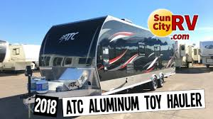 atc aluminum trailer toy hauler 28 phoenix toy hauler 2018 sun city rv