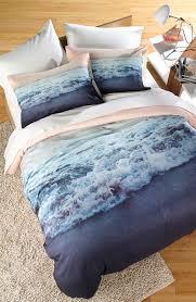 crash into me duvet cover  sham set  print beach waves and