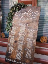 Great Woods Seating Chart Hand Painted Custom Real Wood Seating Chart
