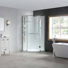 amber 38 in x 38 in x 81 in corner shower kit in