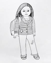 Small Picture Fancy American Girl Coloring Pages 54 On Coloring for Kids with