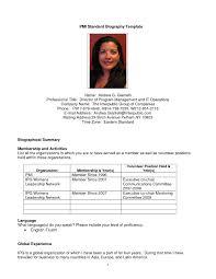 Biography Template Sample Professional Bio Biography Template Capable Plus Tiamomode 7