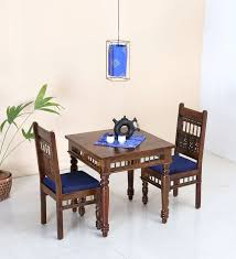 luxury two seater table and chairs aramika two seater dining set in provincial teak finish