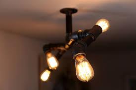diy pipe lighting diy steampunk style iron pipe edison fixture unmaintained steel light lighting