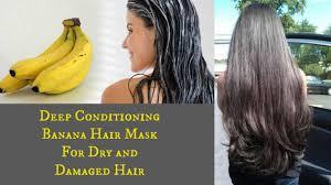 diy deep conditioning banana hair mask for dry damaged hair you