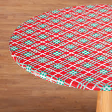 winter plaid vinyl elasticized table covers 356939