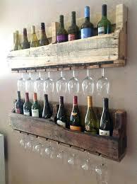 old pallets into wine bottle glass rack i and holder stake set