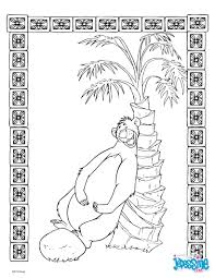 Coloriages Le Livre De La Jungle Baloo Fr Hellokids Com