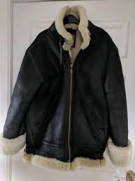 genuine linea pelle italian sheepskin flight jacket
