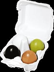 <b>Набор</b> 4 <b>маски</b>-<b>мыла</b> Egg <b>Soap</b> Spesial Set уголь+глина+зеленый ...