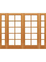 10 lite french brazilian mahogany ig glass double door sidelights made byaaw sku