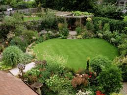 Small Picture Circular lawn surrounded by plants with pergola I Dream of