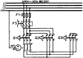 electrical installation basic vocational knowledge mounting star delta connection all pole representation of power part circuit diagram