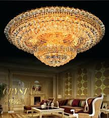 luxurious crystal change color remote control led absorb dome light living room villa ceiling colour changing lights uk