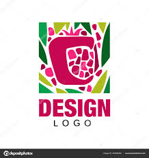 Grocery Store Logo Design Creative Logo Design With Tropical Fruit Abstract Emblem
