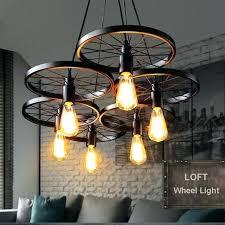 industrial dining light industrial dining room lighting pendant light vintage industrial lamp metal wheel lights loft