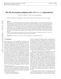 (PDF) HD 108: The <b>mystery</b> deepens with XMM-Newton observations