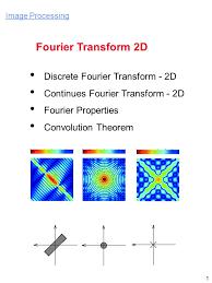 fourier transform 2d discrete fourier transform 2d