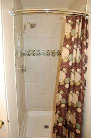 curved shower curtain rod for small shower stall
