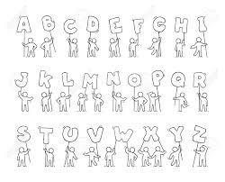 漫画のアイコン セットは手紙を持つほとんどの人々 をスケッチします落書き