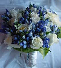 800x800 1372541248888 bridal bouquet white rose blue tulips