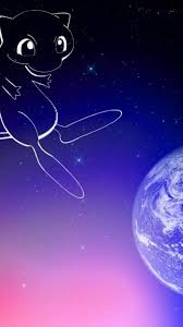 Pokemon Outer Space Stars Earth Mew Wallpaper 129859