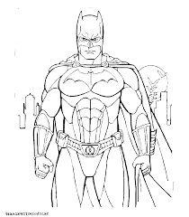 Dessin De Batman A Colorier Et A Imprimer L