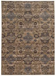 stylish and peaceful blue tan area rugs 1