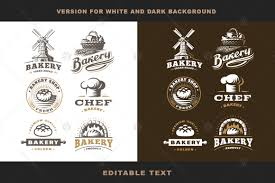 Bakery Logo Set In Logo Templates On Yellow Images Creative Store