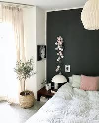 Lichterkette Pink Grey Decor Dunkle Wände Schlafzimmer