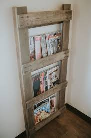 Barn ladder magazine rack Source by