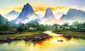 colorful works of famous artists landscape paintingswatercolor
