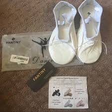 Snoozies Size Chart White Fantiny White Ballet Shoes 6 5 Women Nwt