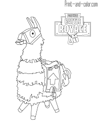 Fortnite Battle Royale Coloring Page Lama Ryatts 5th Birthday In