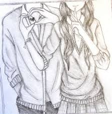 Pencil Sketches Of Couples Wallpaper Of Sketch Couple Impremedianet Anime Couples